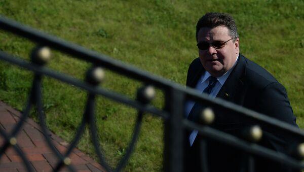 Министр иностранных дел Литвы Линас Линкявичюс. Архивное фото