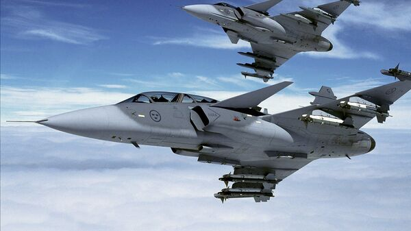 Шведские истребители Gripen. Архивное фото