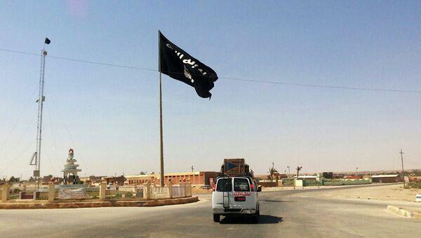 Флаг террористической группировки Исламское государство