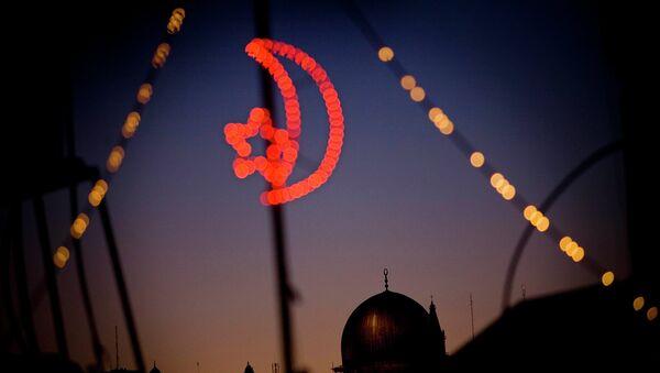 Вид на Мечеть аль-Акса расположенную на Храмовой горе Иерусалима