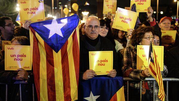 Митинг в поддержку независимости Каталонии в Барселоне. Архивное фото