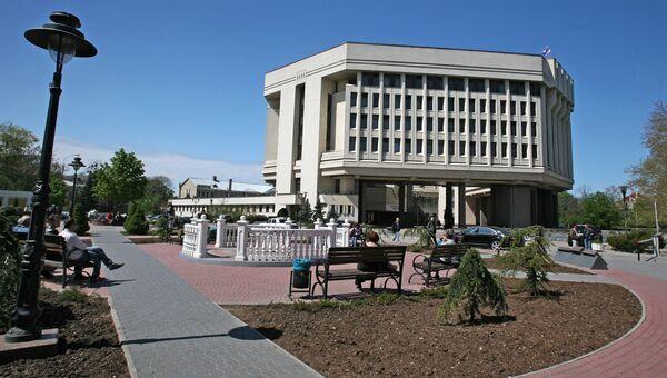 Вид на здание государственного совета Крыма в городе Симферополе. Архивное фото