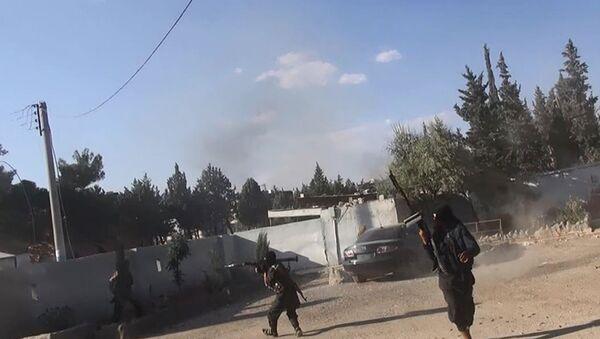 Боевики Исламского государства в городе Кобани, Сирия