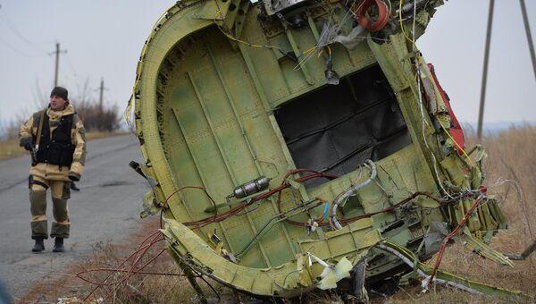 На месте крушения малайзийского Boeing. Архивное фото