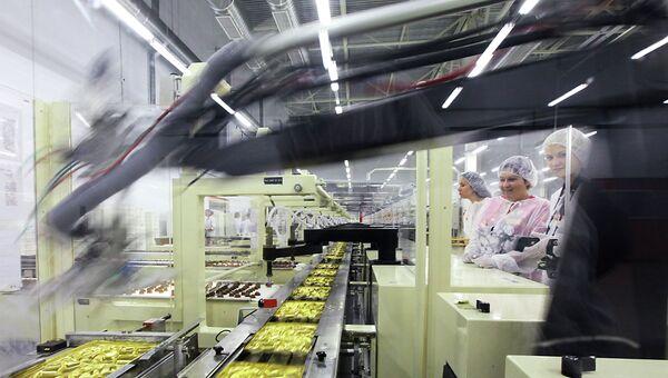 Шоколадная фабрика Kraft Foods. Архивное фото