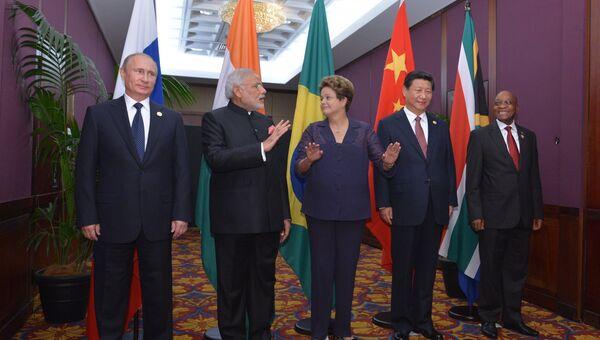 Лидеры стран БРИКС на саммите G20 в Брисбене. Архивное фото