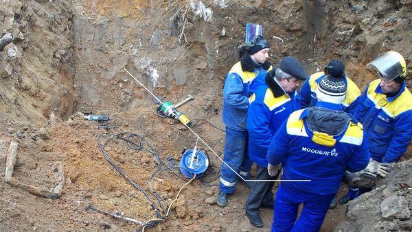 Авария на газопроводе в Ступинском муниципальном районе Подмосковья