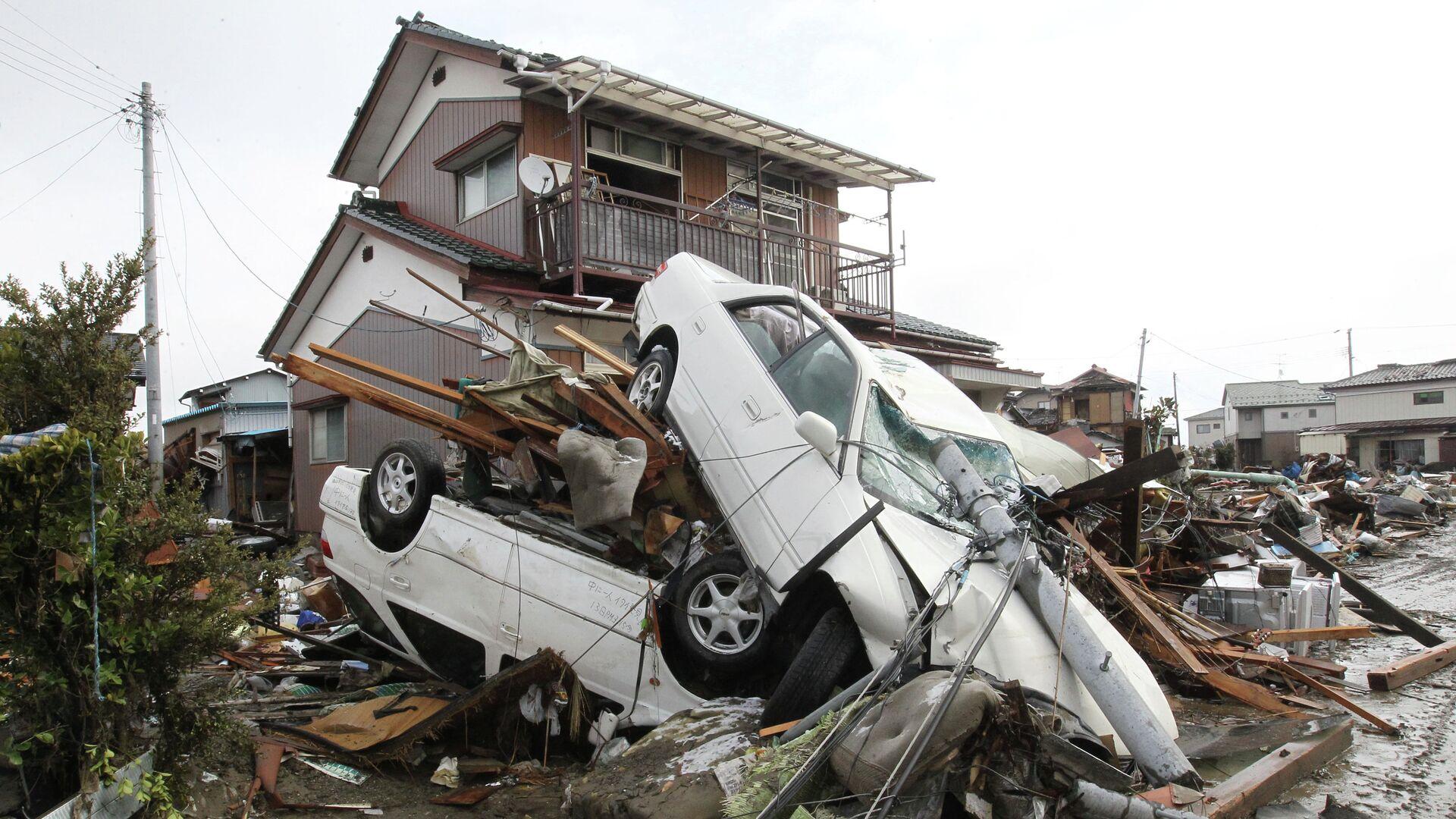 Последствия землетрясения в Японии - РИА Новости, 1920, 11.03.2021