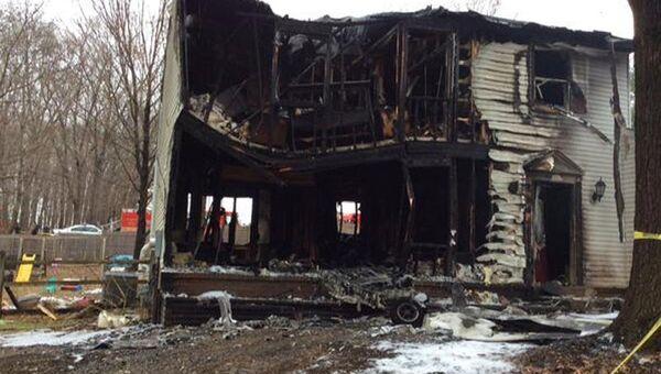 Последствия крушения самолета в пригороде Гейтерсберга