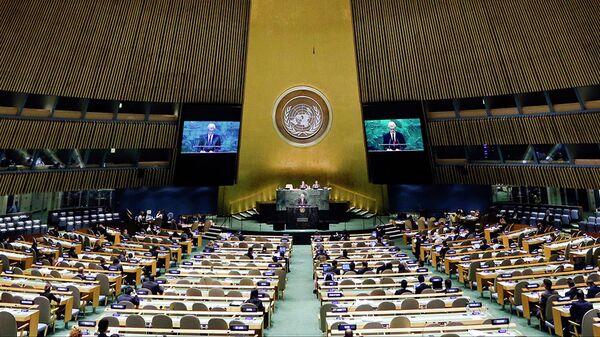 Заседание Генеральной Ассамблеи ООН