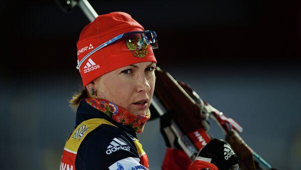 Российская биатлонистка Екатерина Глазырина. Архивное фото