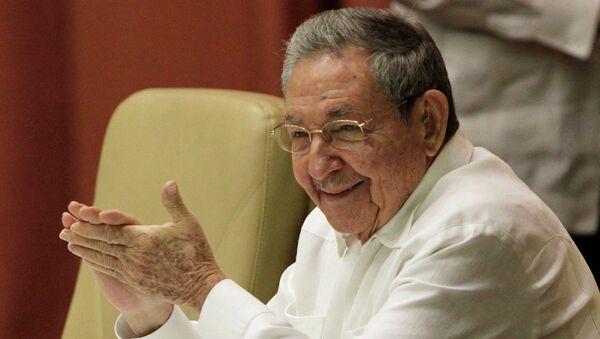 Лидер Кубы Рауль Кастро на заседании кубинского парламента