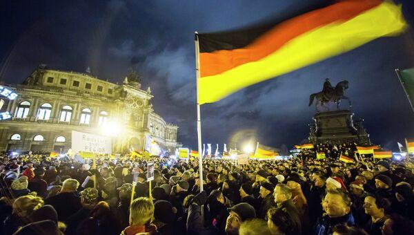 Антиисламская демонстрация в Дрездене