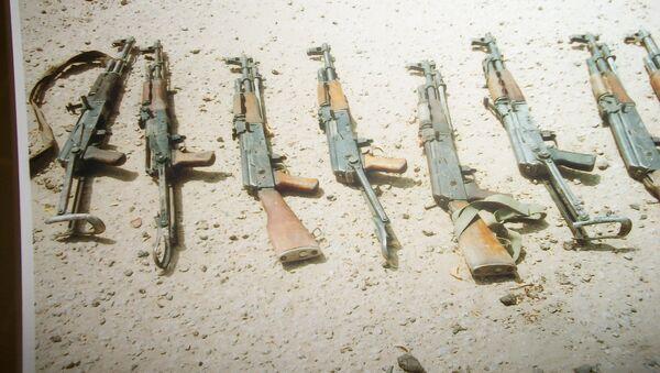 Автоматы, изъятые у террористов