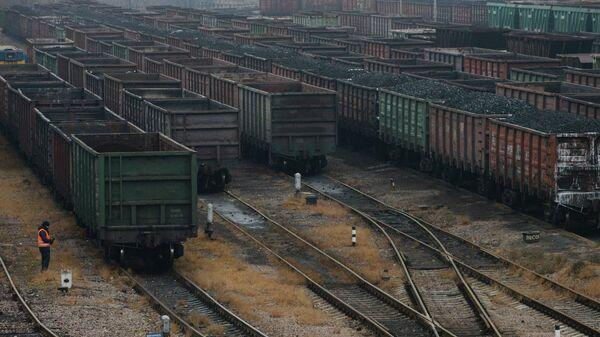 Вагоны с углем на железной дороге
