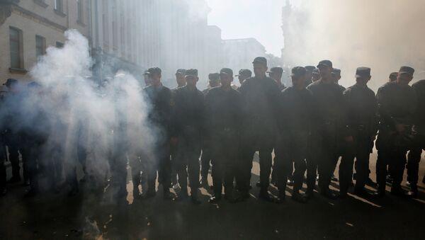 Солдаты украинской Нацгвардии в Киеве, архивное фото