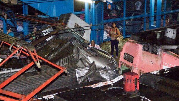 Cтолкновение поездов на станции Президент Жуселину в Бразилии