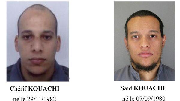 Фотографии братьев Шерифа и Саида Куачи, которых разыскивает полиция Франции