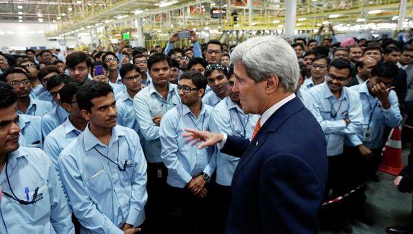 Госсекретарь США Джон Керри во время визита в Индию