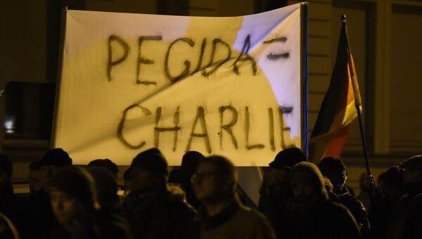 Антиисламские акции протеста в Дрездене. Архивное фото