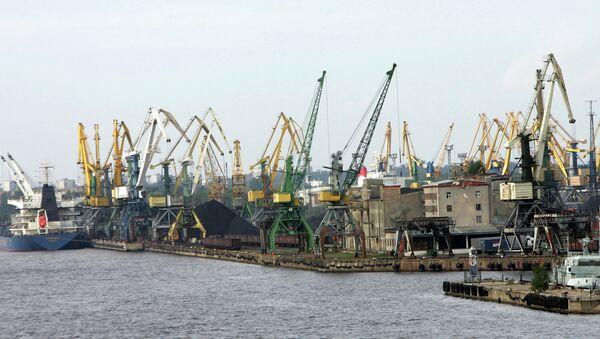 Рижский порт, архивное фото
