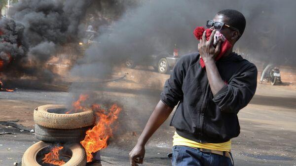Беспорядки в городе Ниамей в Нигере