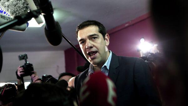 Лидер оппозиционной партии СИРИЗА Алексис Ципрас