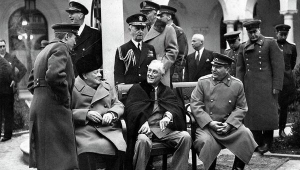 Ялтинская конефренция 1945 года. Архивное фото