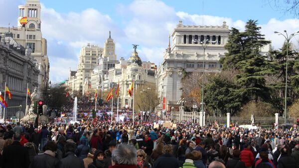 Крупнейшая акция левой оппозиции проходит в Мадриде
