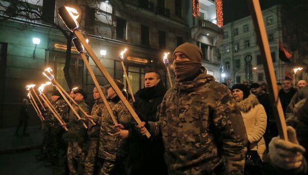 Факельное шествие, архивное фото