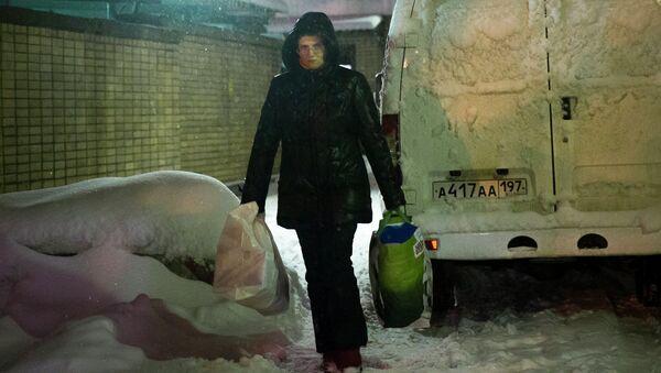 Светлана Давыдова после освобождения из СИЗО Лефортово в Москве. Архивное фото