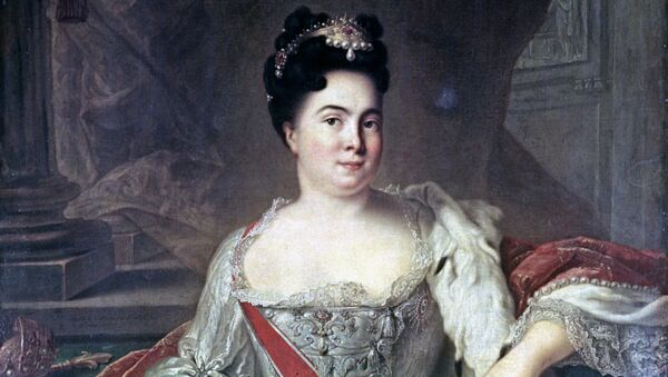 Портрет Екатерины I, картина художника Ж.М.Натье