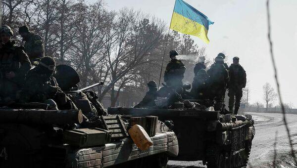 Украинские военные под Дебальцево. 12 февраля 2015.