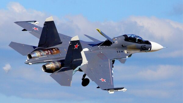 Российский истребитель СУ-35, архивное фото