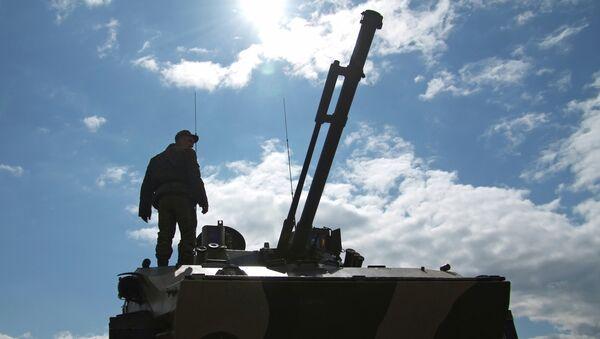 Учения Рязанского высшего воздушно-десантного командного училища имени В.Ф. Маргелова