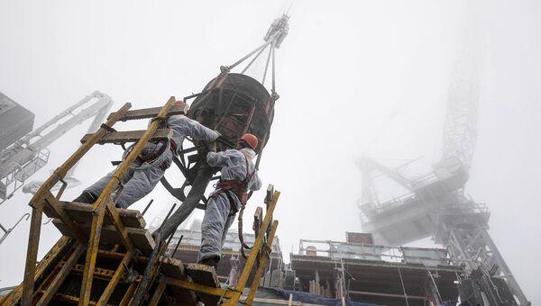 Строительство башни Восток комплекса Башня Федерация в Москве