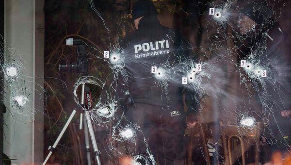 Полицейские на месте теракта в Копенгагене