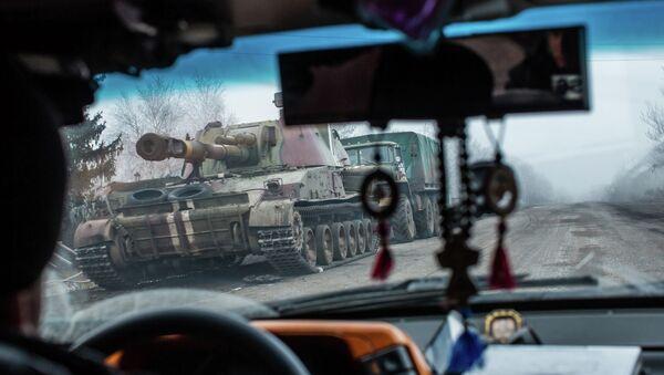 Украинская военная техника в Артемовске. Архивное фото