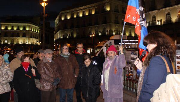 Мадридская акция, посвященная годовщине смены власти на Украине