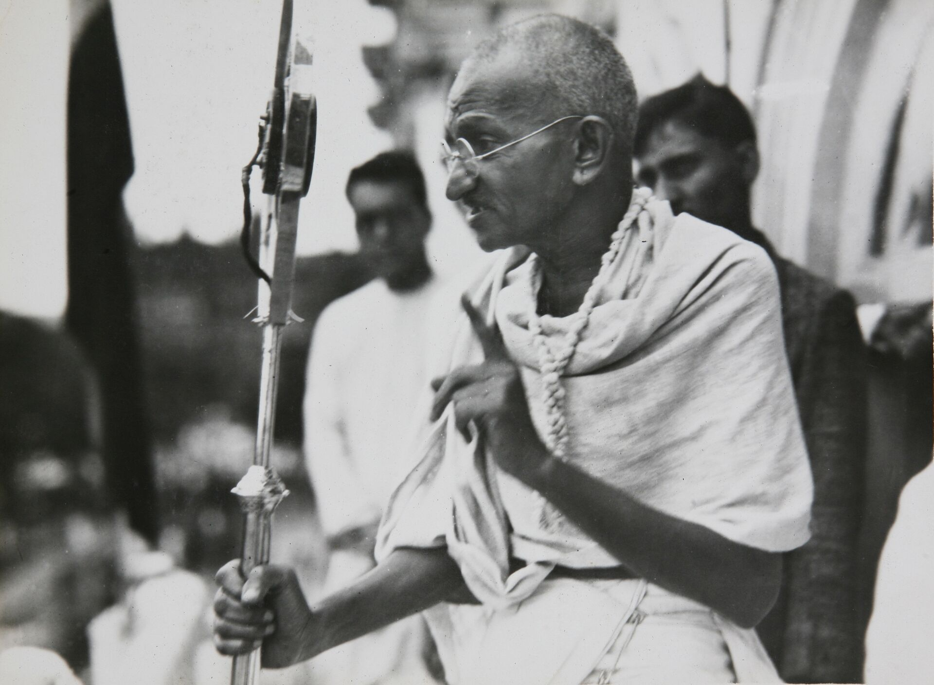 Один из руководителей и идеологов движения за независимость Индии от Великобритании Махатма Ганди - РИА Новости, 1920, 06.10.2020