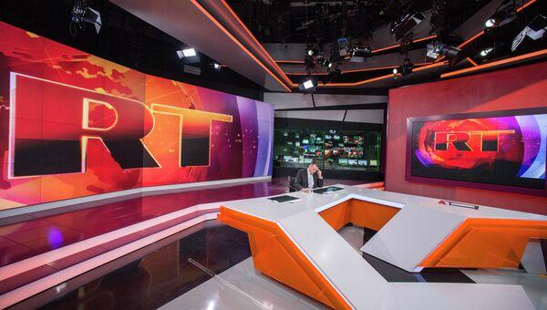 Ньюсрум телеканала Russia Today. Архивное фото