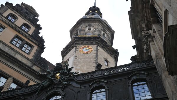 Фрагменты здания Дрезденского дворца-резиденции. Германия