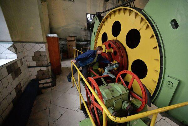Подъемная машина шахты имени С.П. Ткачука в городе Харцызске