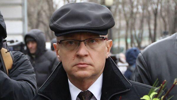 Глава Росатома Сергей Кириенко во время церемонии прощания с политиком Борисом Немцовым в Сахаровском центре