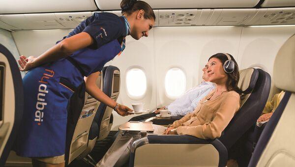 В салоне бизнес-класса авиакомпании flydubai. Архивное фото
