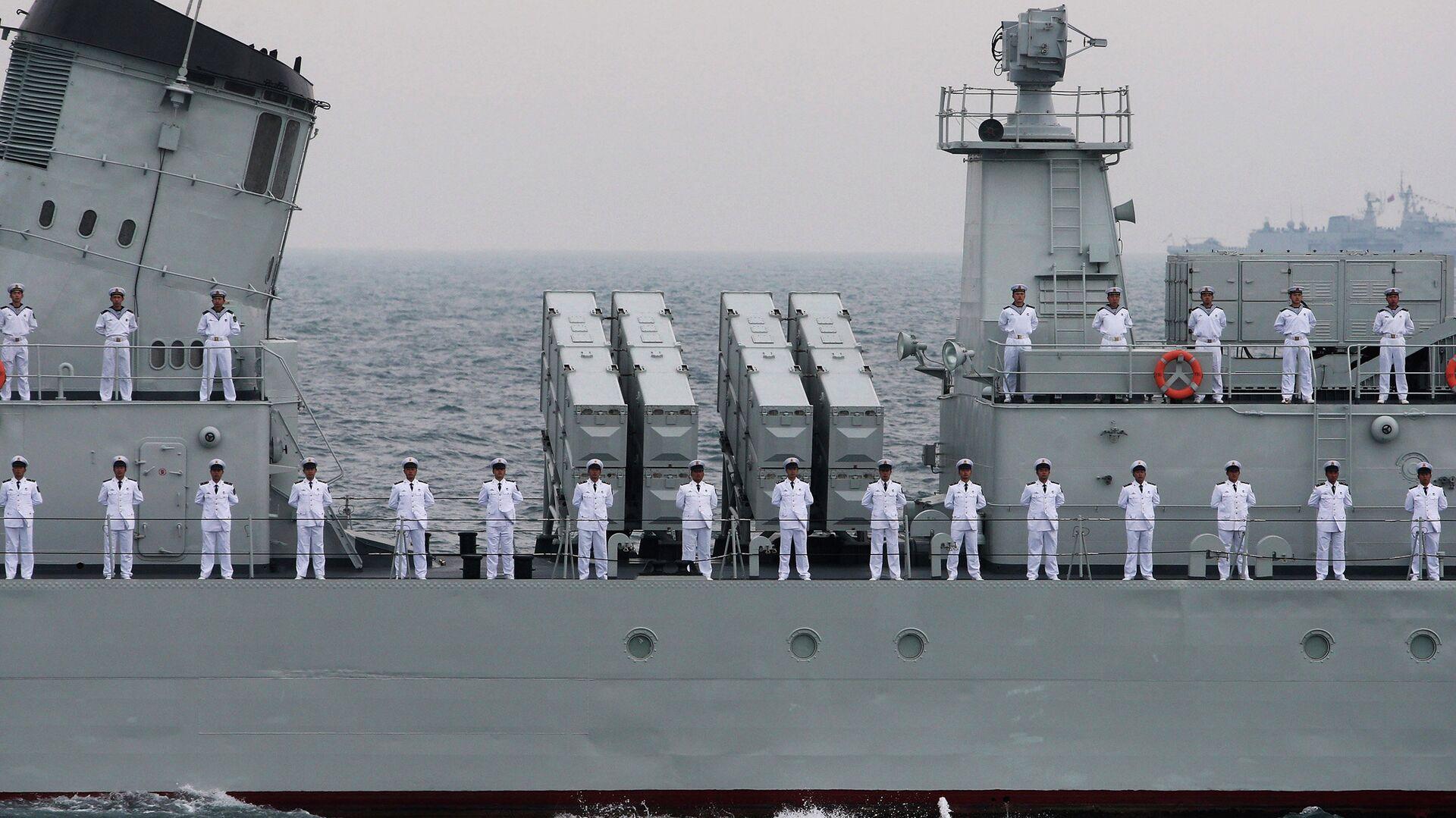Офицеры ВМФ Китая - РИА Новости, 1920, 21.03.2021