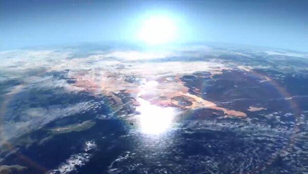 Так могло выглядеть северное полушарие Марса в далеком прошлом
