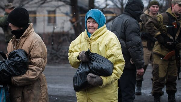 Пенсионера на Донбассе. Архивное фото