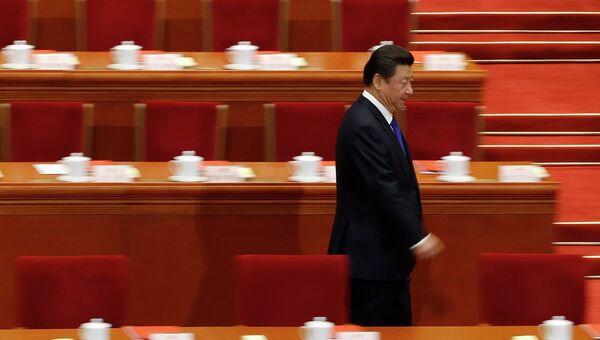 Президент Китая Си Цзиньпин на ежегодной сессии Всекитайского собрания народных представителей