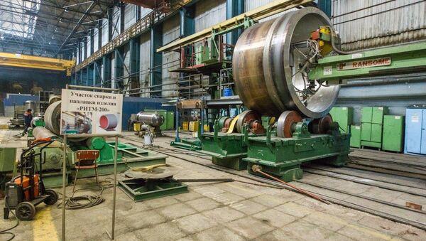 Один из участков сборки реакторной установки РИТМ-200